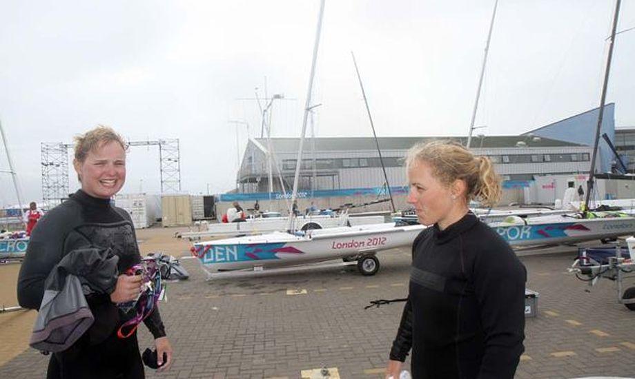 Lene Sommer, tv., og Henriette Koch under OL i England. Foto: Troels Lykke