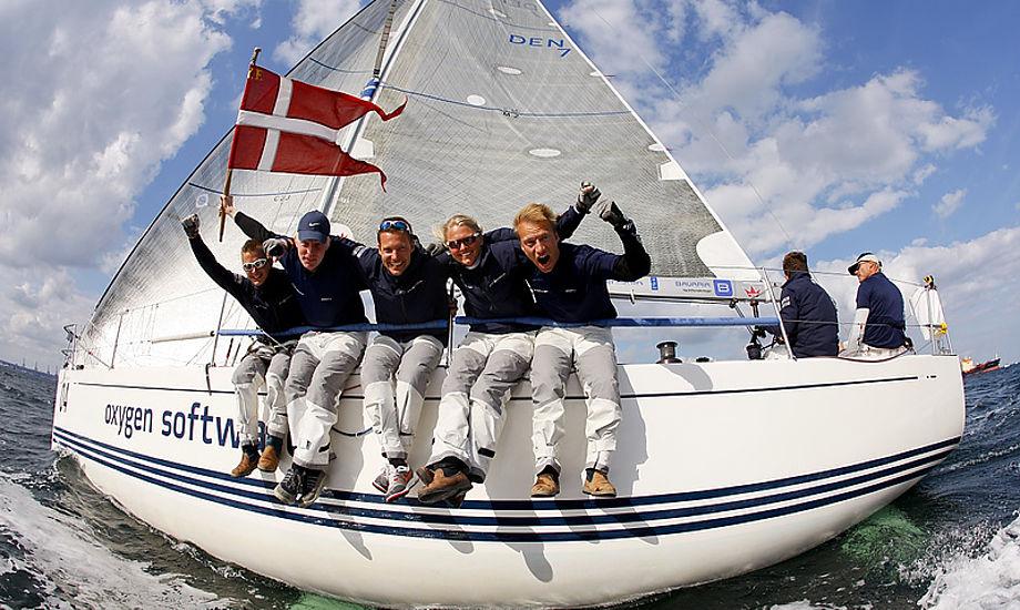 Morten Ulrikkeholm fra Kerteminde vandt VM i år i Aarhus med en rød krone i EPEX-sejlet. Foto: Mick Anderson/Sailingpix