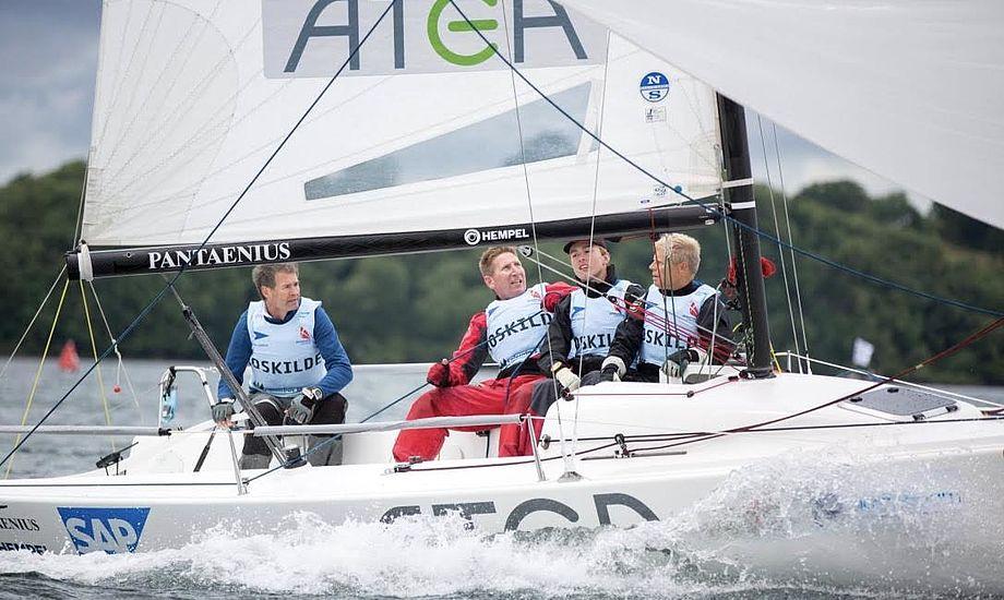 Sejlerne fra Roskilde har kurs mod 1. division efter sejre i sæsonens to første stævner. Foto: Sejlsportsligaen