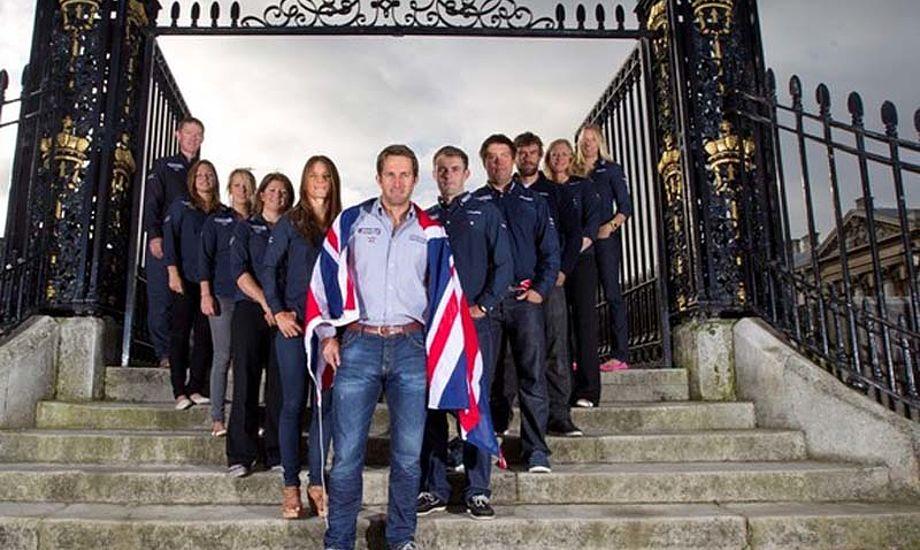 Ben Ainslie i front. Manden der vil slå Paul Elvstrøm med flest olympiske medaljer. Foto: onEdition