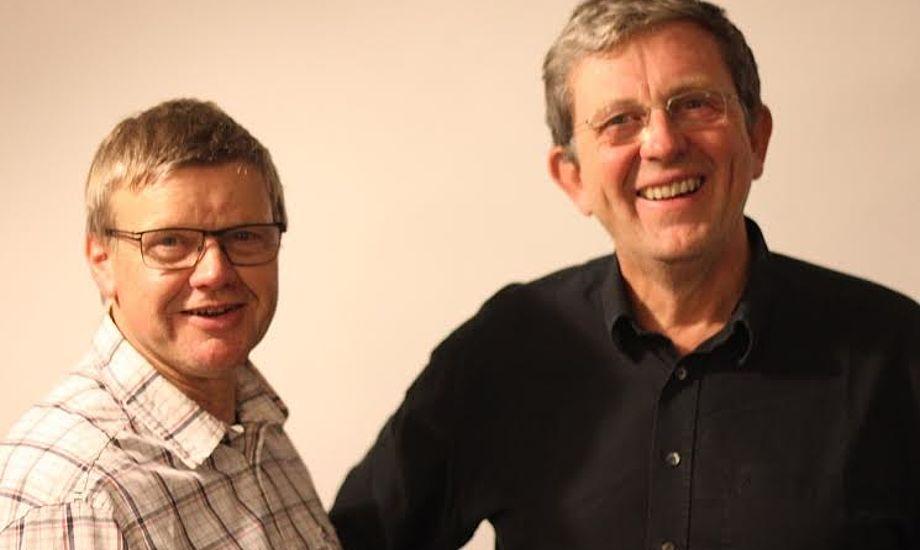 Lars Thomsen, tv., afløser nu Per Risvang, der altid har sagt sin mening alle steder. Det fortsætter han helt sikkert med i sejlklubben og andre steder. Foto: Aarhus Sejlklub