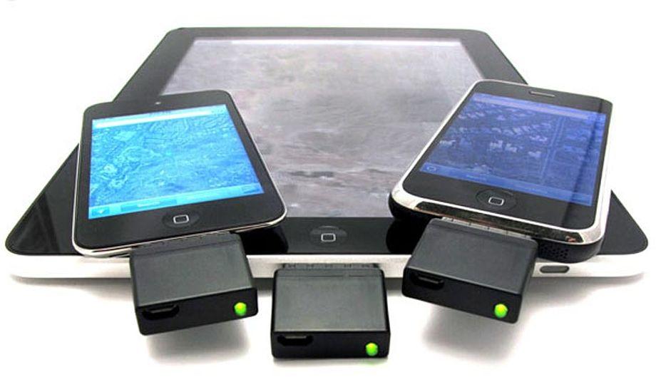 Med en lille GPS kan du bruge dine søkort på den billige IPhone eller på en IPad.