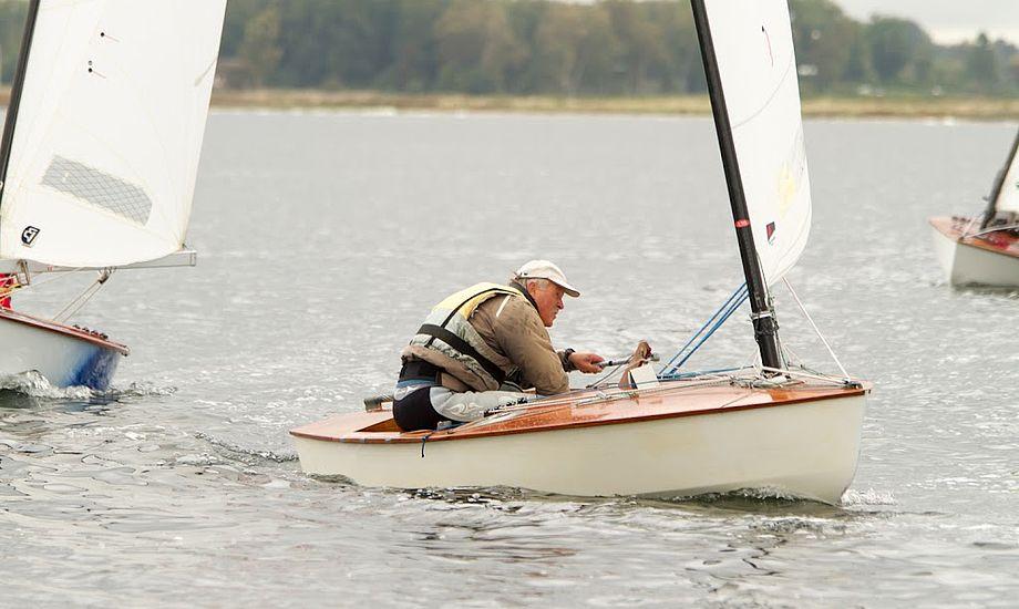 Jørgen Lindhardtsen sejler nu med Høj Jensen Sails. Her ses han i Herslev. Foto: Søren Svarre/sejlfoto.dk