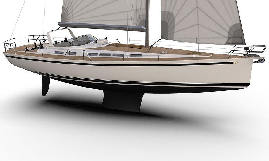 Malö Yachts M49 har en længe på 16 meter samt en bredde på 4.47 m. PR-foto.