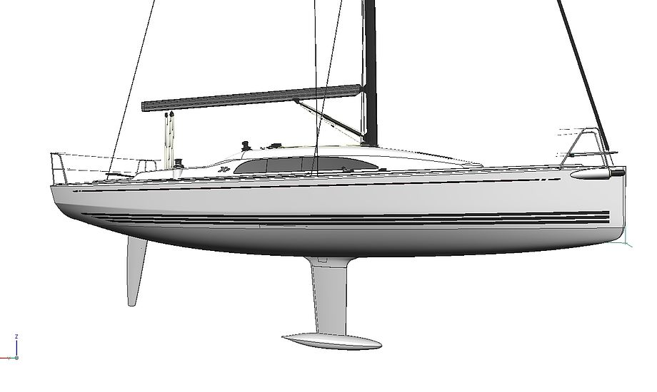 Xp 33 ligner en værdig afløser for X-99eren. Tegning: X-Yachts
