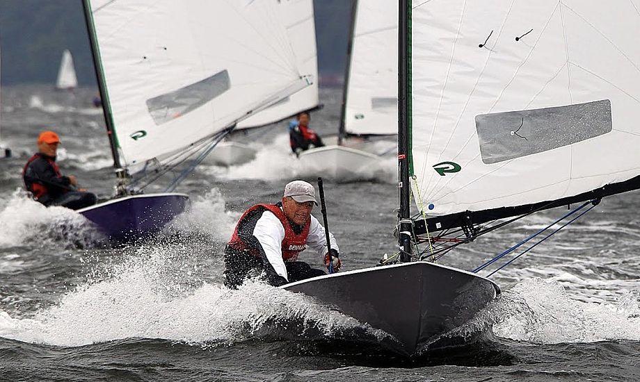 Rekordmange sejlere forventes på startlinjen til årets DM for OK-joller. Foto: Horsens Sejlklub