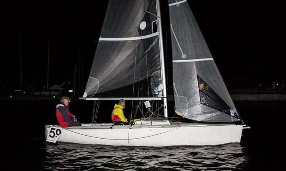 Her kommer den unge besætning i mål i Nykøbing Falster. Foto: Vegvisir