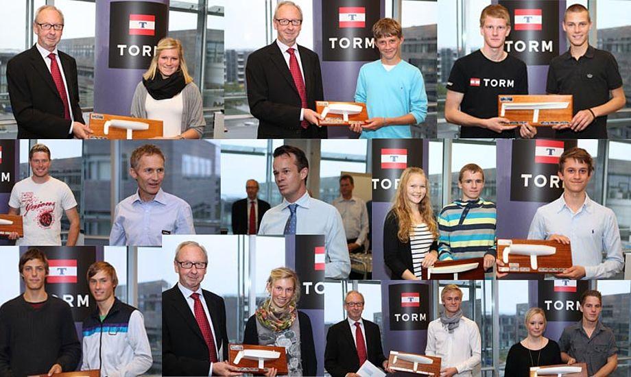 Vinderne af årets Torm Grandprix fik priser af rederiet TORM.