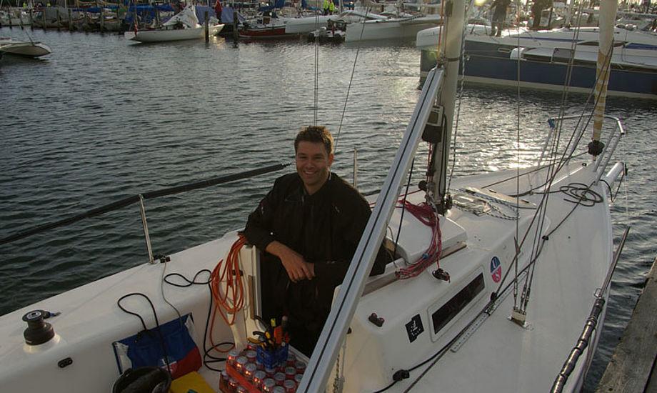 Jesper Davidsen fra Ullmann Sails i Aahus skal sejle i en J/80 - vi spiser hver 3. time for at holde blodsukkeret konstant for ikke at blive trætte, siger han. Foto: Troels Lykke