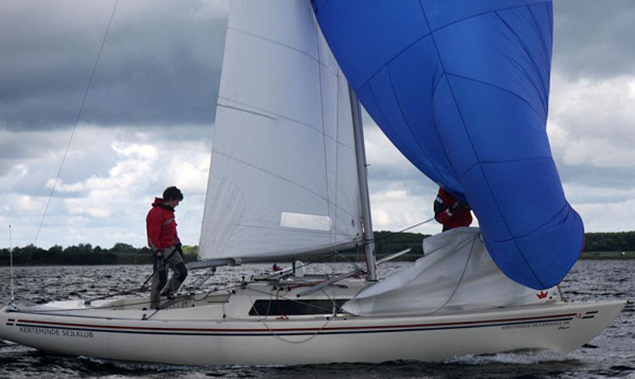 H-båd under Classic Fyn Rundt, hvor der også sejles two handed sejlads. Foto: Troels Lykke