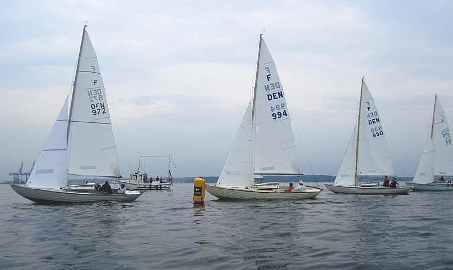 Der er indtil videre tilmeldt 23 både til stævnet i Jægerspris. Foto: Hans Friis