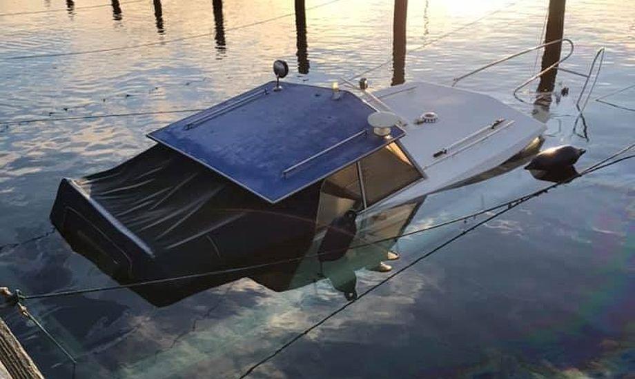 DMI's varsler kan have afgørende betydning for landets sejlere. I Nyborg kostede stormfloden forleden en sunket båd. Foto: Nyborg Marina