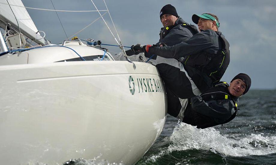 Claus Høj Jensen, Karl Kristensen og Frederik Dahl Hansen mangler modstand i H-båds klassen i år. Foto: Ricky Hansen