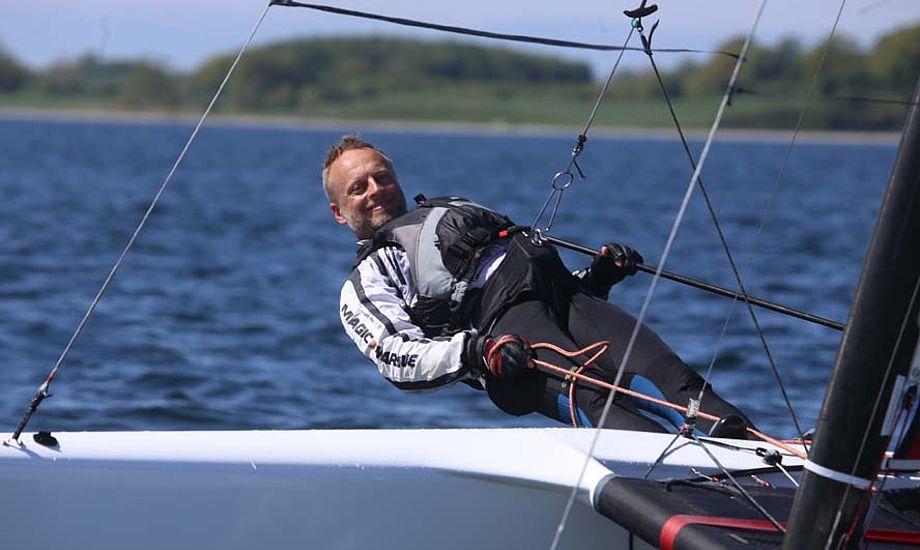 A-Cat sejler Thomas Paasch sejlede virkelig stærkt og var langt foran i den sejlads vi så om søndagen. Foto: Troels Lykke