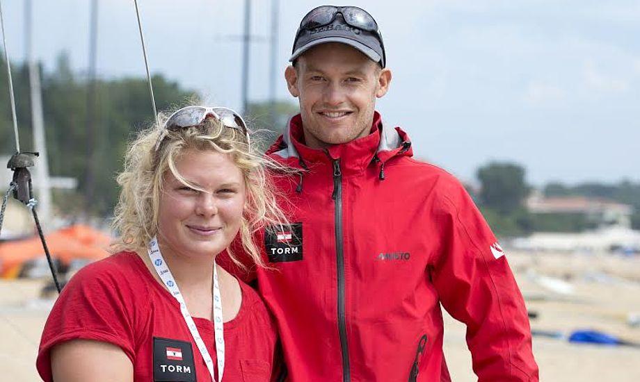 Line Just fra Aarhus og Allan Nørregaard fra Svendborg tog 4. plads til EM i år. Foto: Flemming Ø. Pedersen/Dansk Sejlunion