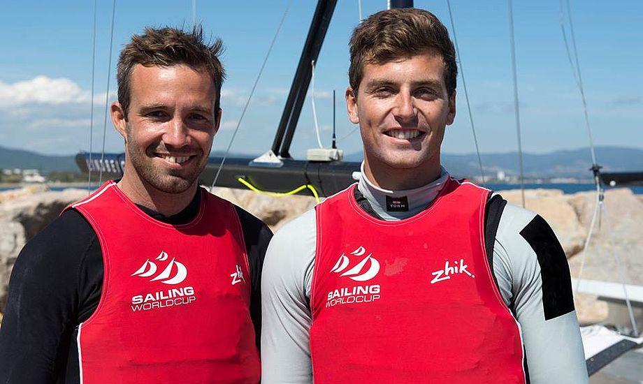 Jonas Warrer og Christian Peter Lübeck lå 3'er inden dagens Medal Race. Foto: Sejlerlandsholdet