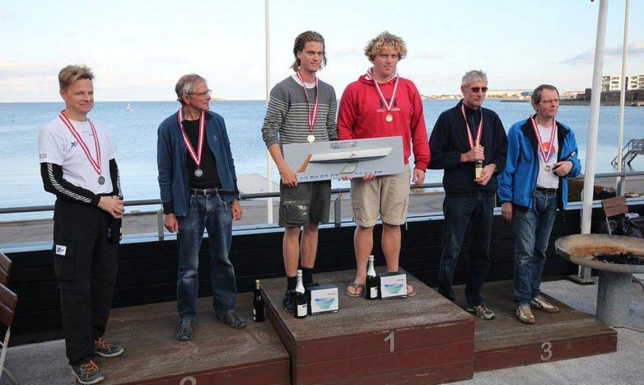 Efter seks sejladser tog Lukas Lier og Konrad Floryan DM-titlen i 606. Foto: Henrik Groth