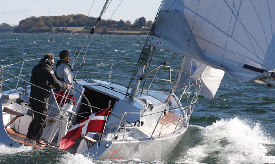 Olsen370 er nomineret til Årets Båd i Europa. Foto: Troels Lykke
