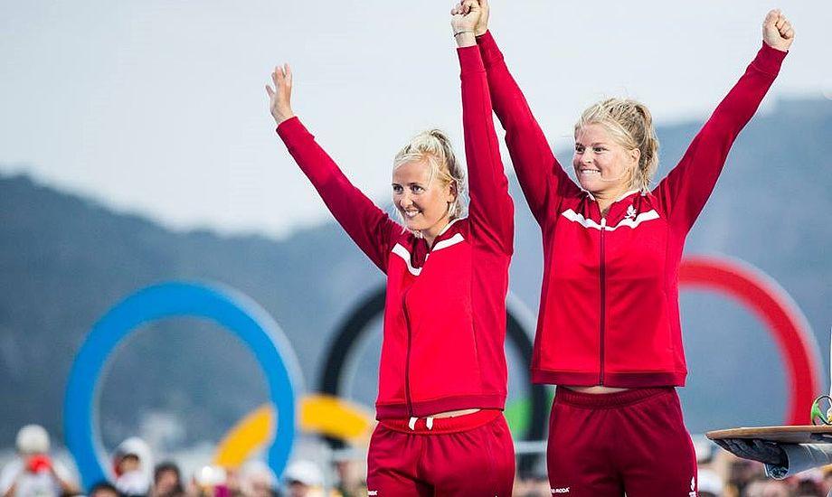 Jena og Katja fra Yachtklubben Furesøen og Hellerup Sejlklub ankommer i dag i lufthavnen i Kastrup klokken cirka 16. Minbaad.dk har en fotograf på stedet. Foto: World Sailing