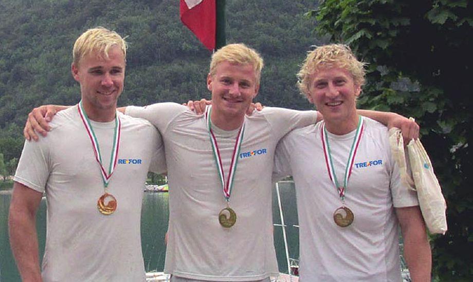 TREFOR Match Racing. Nicolai Sehested i midten, Peter Wibroe (th), og Brad Farrand.