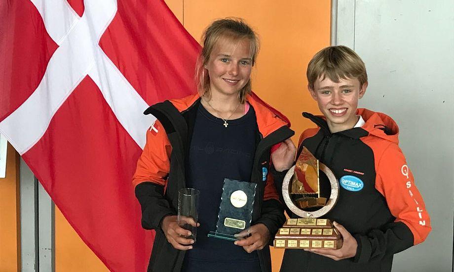 Helena Wolff og Malthe Ebdrup tog hhv. en 3. og 1. plads i det kæmpe prestige-stævne i Kiel. Privatfoto