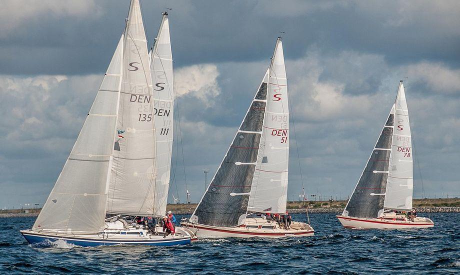 Der var godt sejlervejr til de 15 Scan-Kap 99ere i Dragør.
