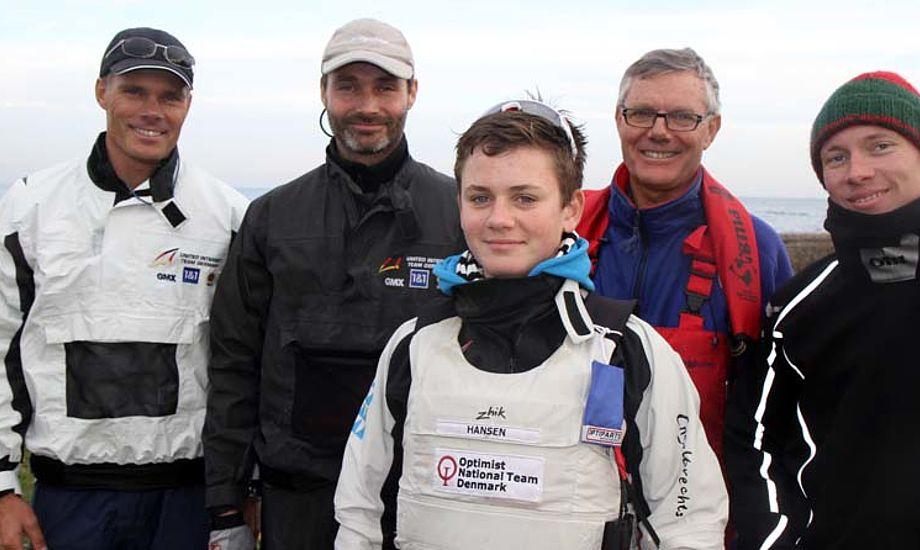 Fra venstre: Michael Hestbæk og Martin Hestbæk. Øvrige på billedet er Jens Ole Hestbæk, Christian og Jens. Foto: Troels Lykke