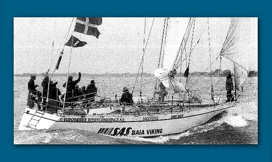 SAS Baia Viking deltog i 1985-86. Skipper Jesper Norsk. Design Jan Kjærulf