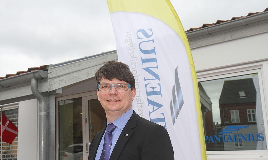 Gert Toft er chef for Pantaenius i Skandinavien. I den danske afdeling i Skive er der 15 ansatte. Foto: Troels Lykke