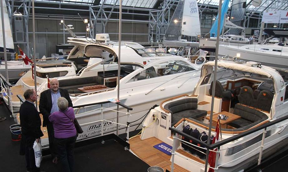 Både i Bella har i år ikke konkurrence fra bådudstillingen i Fredericia. Foto: Troels Lykke