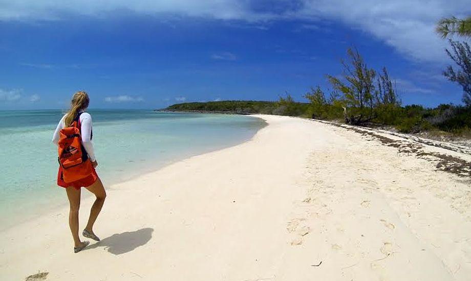 På opdagelse ved Hoffman's Cay, Berry Islands. Foto: Henrik Hansen