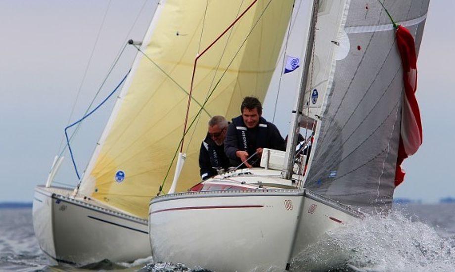 I torsdags var der til tider frisk vind med både havari og flængede spilere i BB 10-meter klassen.