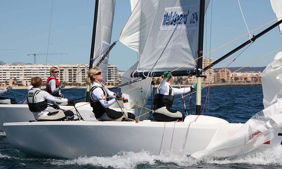 Team Meldgaard har tre sejre og et nederlag. Arkivfoto: Mick Anderson for Dansk Sejlunion