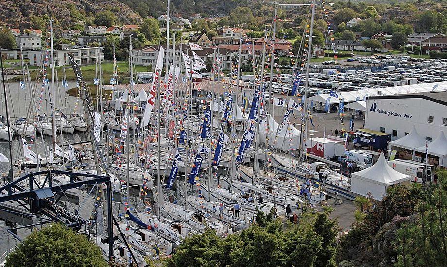 Årets Open Yacht ved Orust nær Göteborg blev en stor succes. Foto: Hallberg-Rassy