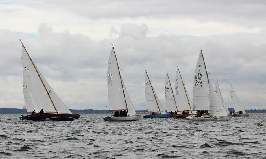 37 træ- og glasfiberbåde sejlede med i det fynske. Foto: Jay Brun Jensen