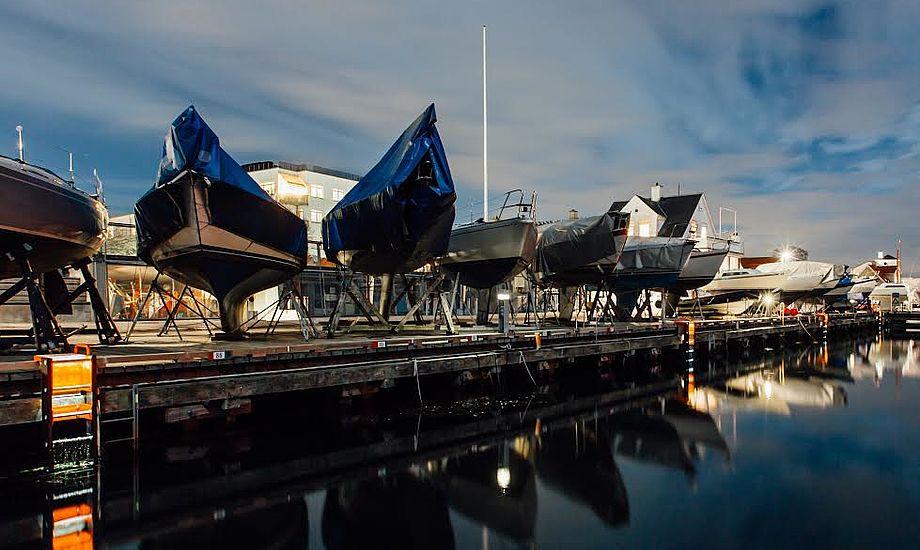 I slutningen af 2016 satte TrygFonden 62 stiger op som en stor-stil-test af stigen i 4 udvalgte havne: Aarhus, Randers, Sydhavnen i København og Taarbæk Havn. PR-foto Trygfonden