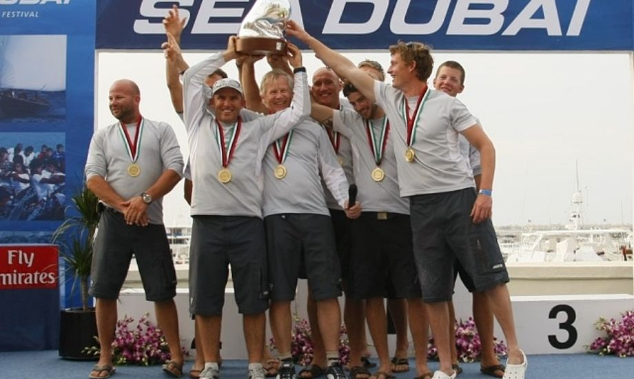 Kirketerp, Sparvath og Plinius jubler med sidste år, hvor holdet vandt RC44 touren.