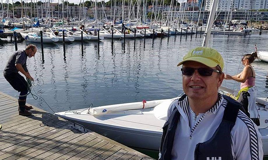 46-årig ingeniør Anders Bertelsen fra Aarhus var især hurtig om lørdagen. Søndag kritiserede han banelederen for at lave sejlads på 20 minutter. Det blev ændret i sejladsen efter. Foto: Troels Lykke