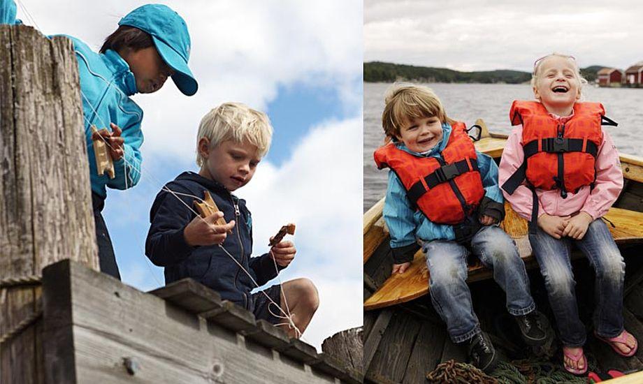 De unge fiskere burde nok også have en vest på. Fotos: Helly Hansen