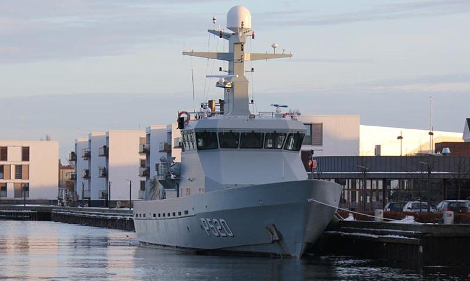 Patruljefartøjet Diana deltager i eftersøgningen på Kattegat. Foto: wikipedia