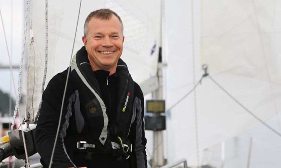 Jan Møller i singlehandsejladsen Silverrudder 2013. Foto: Troels Lykke