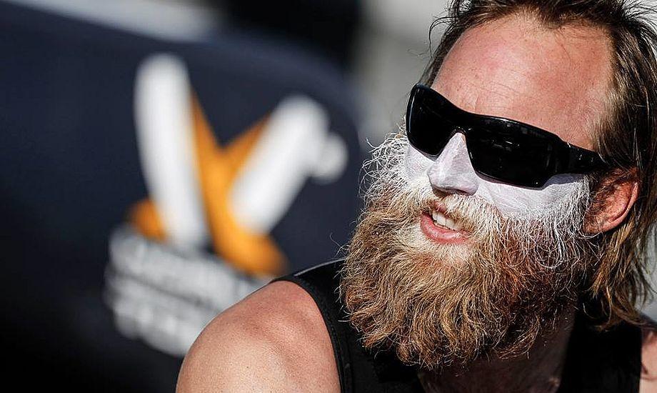 Prof-gast Philip Guhle skal tage mange flere kilo muskler på. Allerede nu vejer han 94 kilo. Foto: Ian Roman
