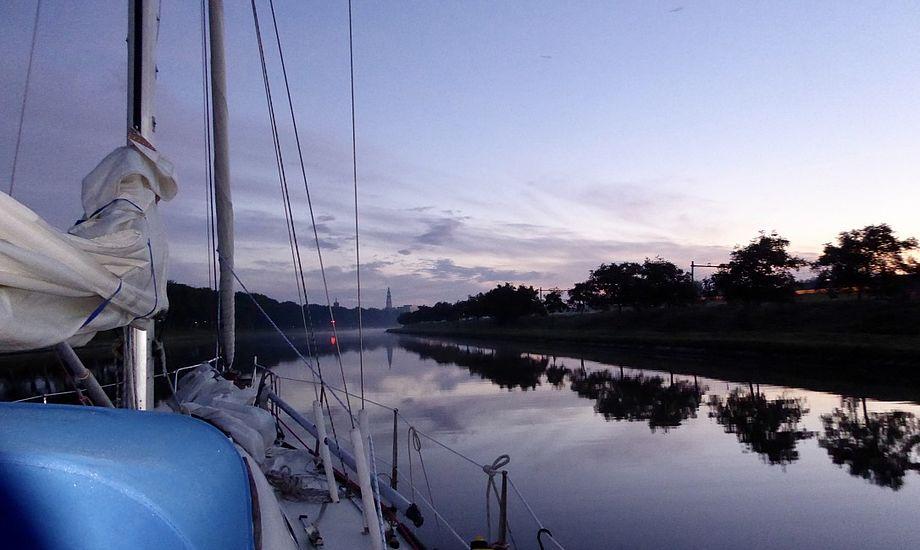 Flot morgenvejr på vej til Middelburg. Foto: Signe Storr
