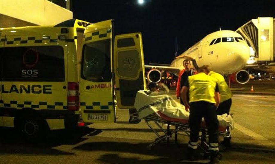 Calle H. Sørensen landede i Kastrup Lufthavn 26. august, først der måtte han nemlig flyve, ifølge flyselskabet.