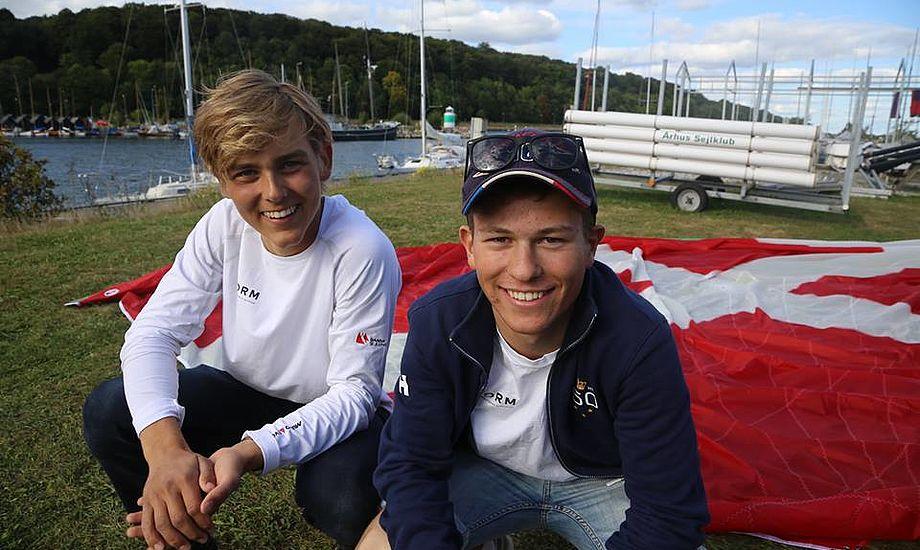 Precht og Ladefoged træner hver weekend i Rungsted, hvor KDY stiller 29ere gratis til rådighed. Foto og video: Troels Lykke