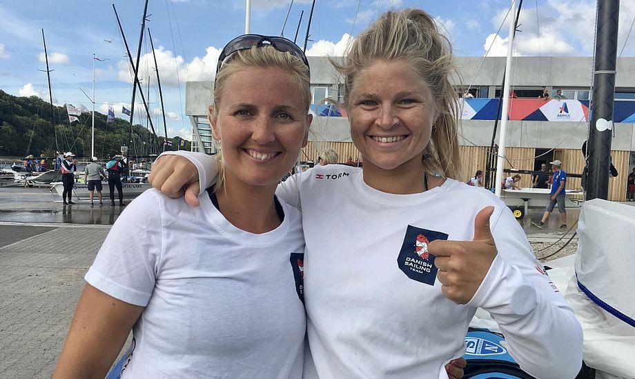 Efter en flot VM-start er der god grund til at række tommelfingeren i vejret for de to danske medaljehåb. Foto: Sara Sulkjær
