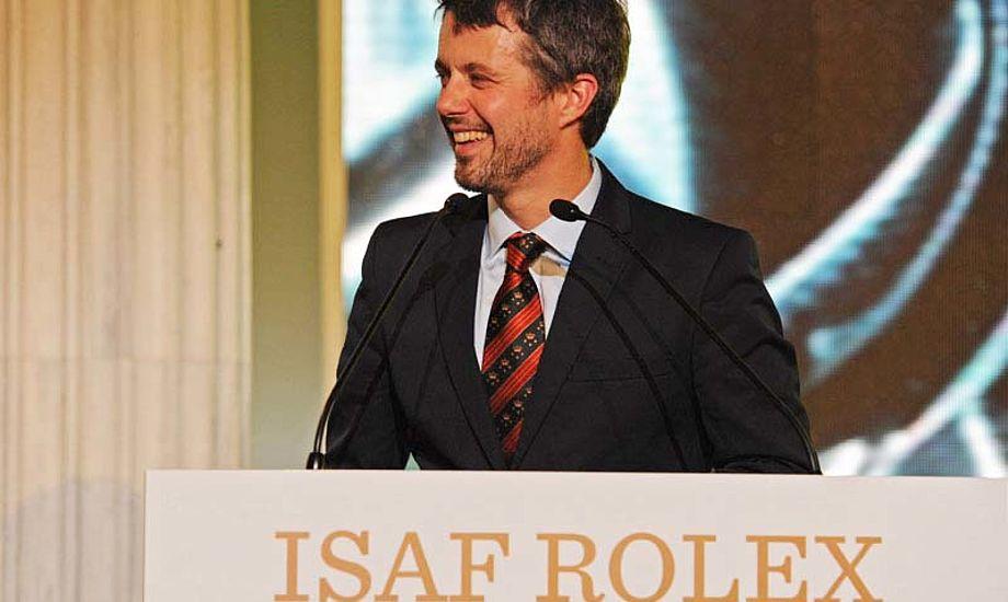 Kronprinsen har været medlem af ISAF´s eventkomité i otte år, men opgav sin idrætspolitiske toppost i international sejlsport på sejlunionens årsmøde i november. Foto: Rolex/sailing.org