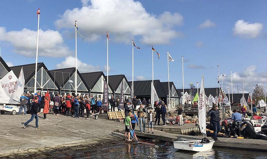 De sidste år har mellem 380 og 400 sejlere deltaget i pinse-stævnet. Foto: Morten Grundsøe