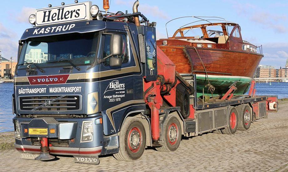 En række vognmænd over hele landet kan hjælpe med transporten fra havn til hal. Her det er Hellers, der har til huse på Kastrup Havn. Foto: Hellers