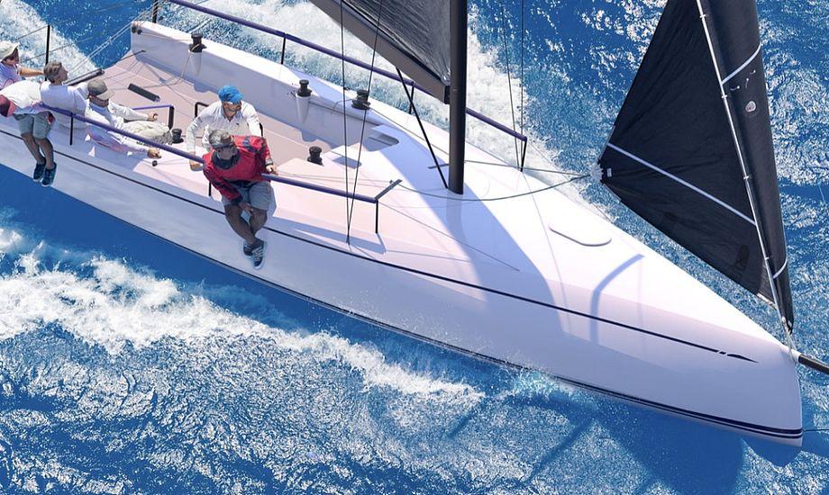 ClubSwan 36'eren er målrettet den ambitiøse og fartglade amatørsejler. Foto: Swan